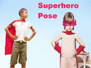 Pictures of Superhero Poses