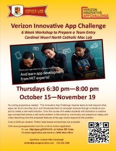 Grow a Generation CWNC Create Lab Verizon Innovative App Challenge Workshop Fall 2015